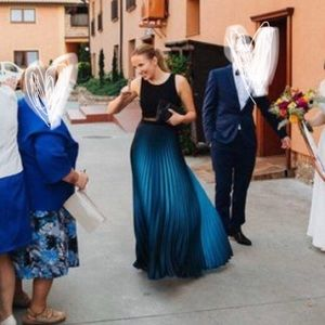 MAXI Betsy&Adam Navy Blue Bridesmaid's Dress